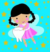 image of tooth-fairy  - Illustration of a cute little teeth fairy - JPG
