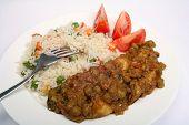 Vegetarian Muttar Aloo Curry