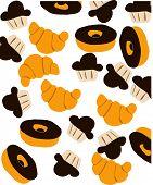 Bread Donuts anc cupcake