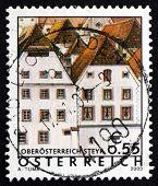 Postage Stamp Austria 2003 Houses, Steyr, Austrian Scene