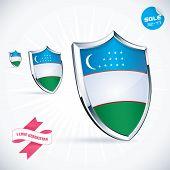 I Love Uzbekistan Flag Illustration