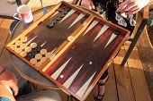 Two People Play Backgammon