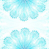 Blue vector peacock feathers background