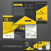 Professional business three fold flyer template, corporate brochure or cover design can be use for publishing, print and presentation.