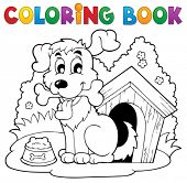 Coloring book dog theme 1 - eps10 vector illustration.