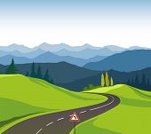 picture of designated driver  - Road between the mountains and beauty of nature - JPG