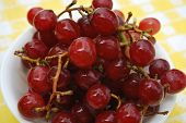 Fresh Red Grapes In A Bowl