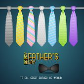 Father's Day Background with Tie