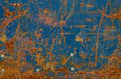 Abstract texture of rusty metal with paint worn Stuckey