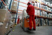 stock photo of hand truck  - logistics  - JPG