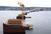 Piers under construction