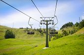 Empty Ski Resort Chairlift In Summer