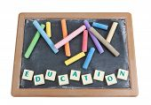 School Board To Chalk Colored Chalk And Written Word Education.
