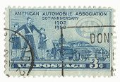 United States Stamp of AAA 50th Anniversary