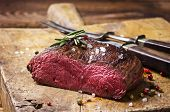 foto of ribeye steak  - venison steak - JPG