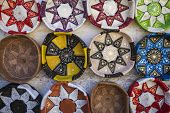 stock photo of handicrafts  - Traditional leather handicrafts of Morocco - JPG