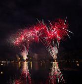 Firework At  Sukothai Thailand