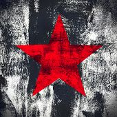 Grunge Background With Star