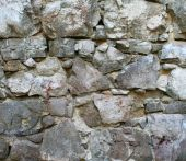 Medieval Granite Stone Wall As Background poster