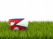 Football With Flag Of Nepal