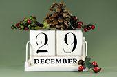 Save the Date individual vintage calendar for December
