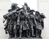 stock photo of memorial  - Close up on tomb of the unknown soldier at National War Memorial in Confederation Square - JPG