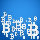 Background of financial currency Bitcoin