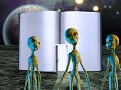 picture of x-files  - Aliens Story Book - JPG