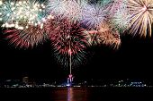 Fireworks of Firecracker In Pattaya, thailand.