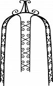 pic of pergola  - Pergola arch steel with openwork decoration for the garden - JPG