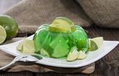 Portion Of Lime Jello On A Plate