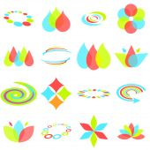 Abstract Design Elements In Red, Green, And Blue