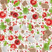 Antipasto Background (on White)