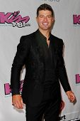 BOSTON-DEC 14: Singer Robin Thicke attends KISS 108's Jingle Ball 2013 at TD Garden on December 14,