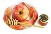 Apple, Honey And Honey Spoon