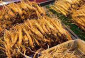 picture of ginseng  - Fresh Ginseng in food market - JPG