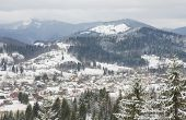 pic of zakarpattia  - Beautiful background with landscape of Winter Carpathian Mountains - JPG