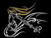 knight tribal,Ancient warrior symbol