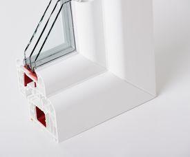 picture of white vinyl fence  - Plastic window profile - JPG