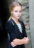 Portrait Of A Little Girl In Vintage Style