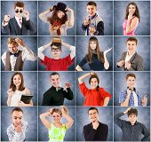 Young People Emotional Portraits