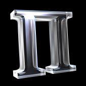 Símbolo de PI em vidro (3d)