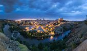 Panoramic View Of Toledo After Sunset, Spain