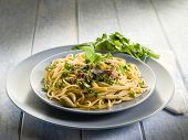 spaghetti with anchovies parsley and capers