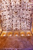 Square Shaped Domed Ceiling Sala De Los Reyes Alhambra Moorish Wall Designs Granada Andalusia Spain