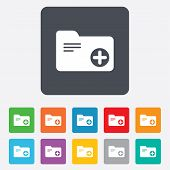 Add document folder sign. Accounting binder.