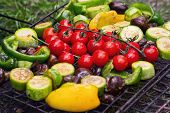 Fresh Vegetables For Grilling Outdoors