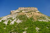 Tepe Kermen mountain and ancient cave city, Crimea, Ukraine or Russia