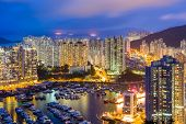 pic of typhoon  - Aberdeen typhoon shelter in Hong Kong - JPG