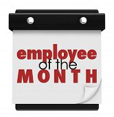 Employee of the Month words recognizing the top performing worker